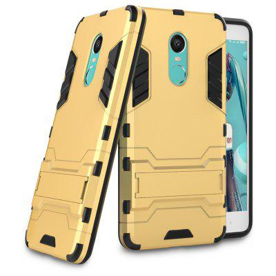 Luanke Drop-proof Phone Stand Back Case for Xiaomi Redmi Note 4X