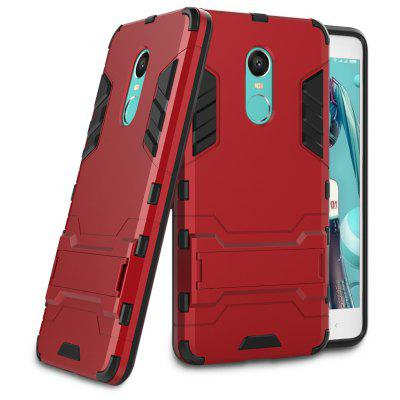 Buy RED Luanke Drop-proof Phone Stand Back Case for Xiaomi Redmi Note 4X for $2.73 in GearBest store