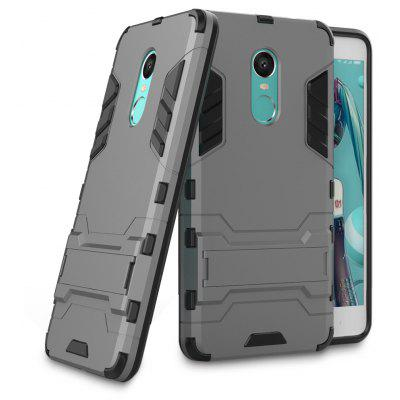 Buy BLACK AND GREY Luanke Drop-proof Phone Stand Back Case for Xiaomi Redmi Note 4X for $4.08 in GearBest store