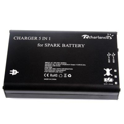 5-in-1 Multifunctional ChargerCharger<br>5-in-1 Multifunctional Charger<br><br>Charger Power Supply: AC &amp; DC<br>Package Contents: 1 x Charger, 4 x Cable<br>Package size (L x W x H): 19.00 x 16.00 x 5.00 cm / 7.48 x 6.3 x 1.97 inches<br>Package weight: 0.8030 kg<br>Product size (L x W x H): 17.00 x 11.00 x 3.50 cm / 6.69 x 4.33 x 1.38 inches<br>Product weight: 0.5620 kg<br>Type: Charger