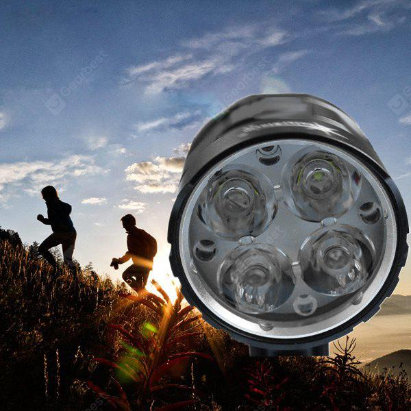 SolarStorm X6 Cree XM - L T6 3000LM 4 Modes LED Headlight Bicycle Lamp + 18650 Batterie