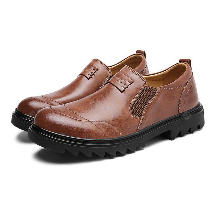 DARK AUBURN Male Business Slinky Elastic Soft Casual Oxford Shoes