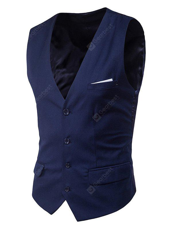 Fashion Solid Color No Sleeves Waistcoat for Men