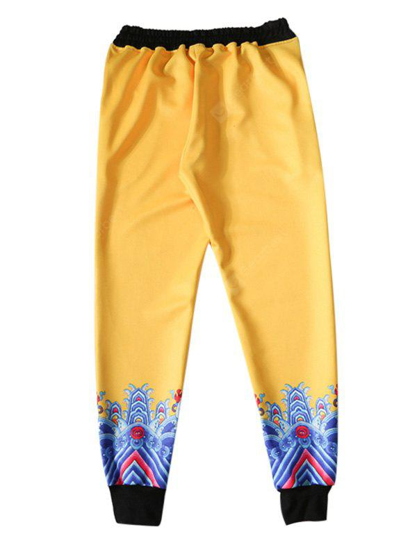 YELLOW Fashion Unique Printing Pants
