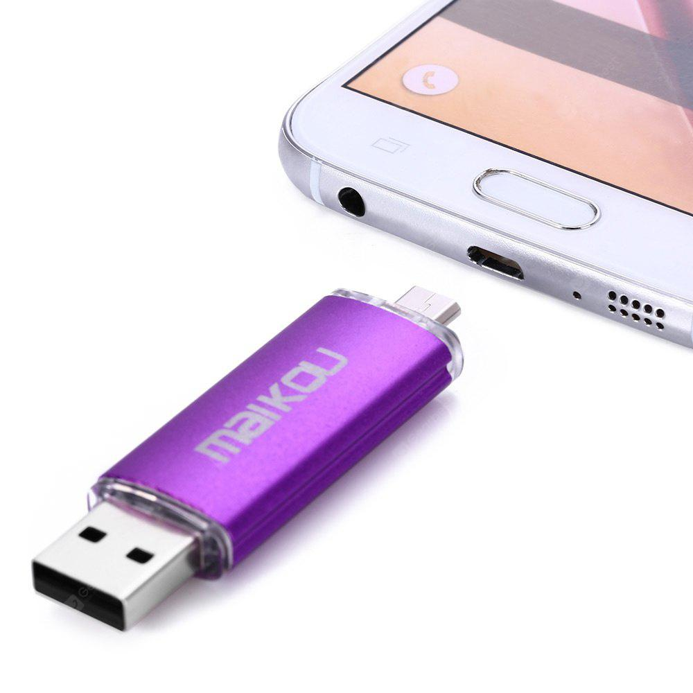 Maikou MK-760 2 1 16GB OTG USB 2.0 Flash Drive PURPLE