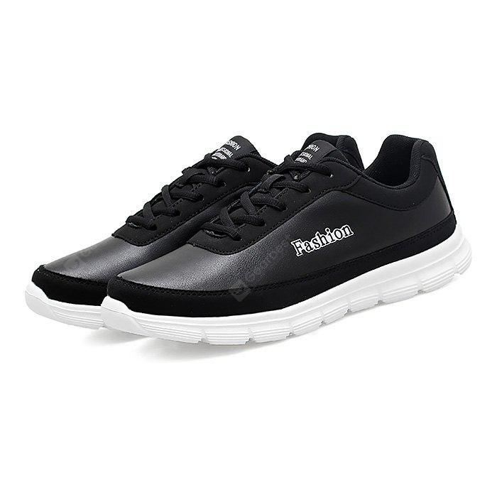 BLACK 40 Male Soft Breathable Ultralight Running Athletic Shoes