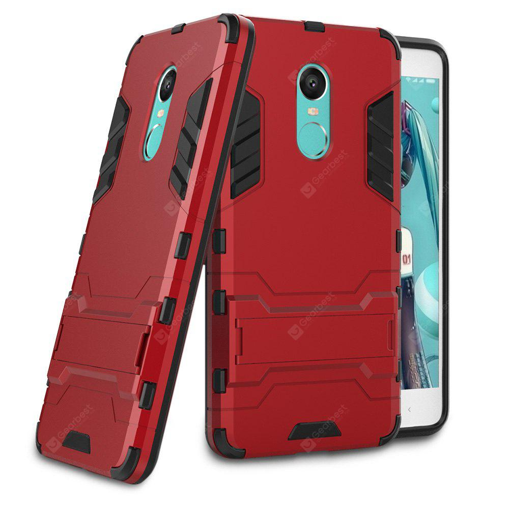 RED Luanke Drop-proof Phone Stand Back Case for Xiaomi Redmi Note 4X