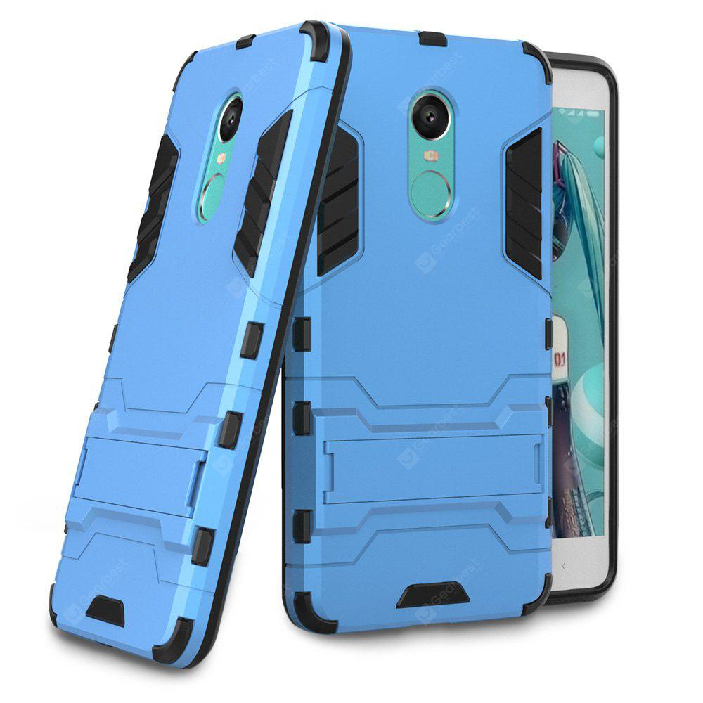 BLUE Luanke Drop-proof Phone Stand Back Case for Xiaomi Redmi Note 4X
