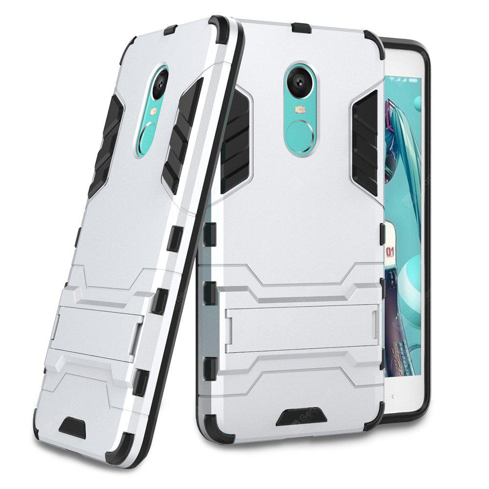 SILVER Luanke Drop-proof Phone Stand Back Case for Xiaomi Redmi Note 4X