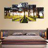 5PCS YSDAFEN Forest Sunlight Printed Painting Canvas Print - COLORMIX