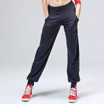 CONNY Female Polyester Fitness Dancing Pants - BLACK
