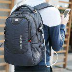 MARK RYDEN Men Laptop Backpack with USB Port - BLUE