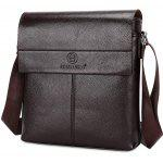 FEIDIKABOLO Men Leisure PU Handbag Shoulder Bag Set - BROWN