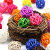 20pcs Ornaments Rattan Balls for Birthday Party Festival - MULTI