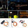 BRELONG 2m DC 12V Orange EL LED Neon Cold Strip Light - BRIGHT ORANGE