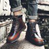 Male Retro Brush-off Style Soft High Top Casual Boots - BROWN