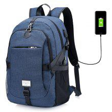 GearBest: Solo $16.99/€14.37 para Men Casual Durable Canvas Backpack with USB Port