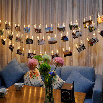 LED 20pc-clip Light String Warm White Lights Decorative LightsDecorative Lights<br>LED 20pc-clip Light String Warm White Lights Decorative Lights<br><br>Cable length: 220cm<br>Features: Adjustable brightness, Creative<br>For: Bar, Cafe, Home, Restaurant<br>LED Quantity: 20<br>Material: ABS<br>Package Contents: 1 x Light String<br>Package size (L x W x H): 20.00 x 25.00 x 5.00 cm / 7.87 x 9.84 x 1.97 inches<br>Package weight: 0.1800 kg<br>Power Supply: Battery<br>Product size (L x W x H): 220.00 x 5.50 x 1.00 cm / 86.61 x 2.17 x 0.39 inches<br>Product weight: 0.1700 kg<br>Type: Decorative Lighting