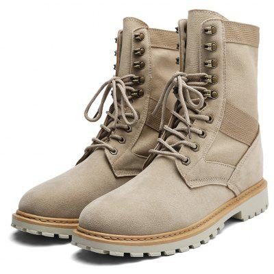 Fashion Lace-up Slip Resistant Boots for Men