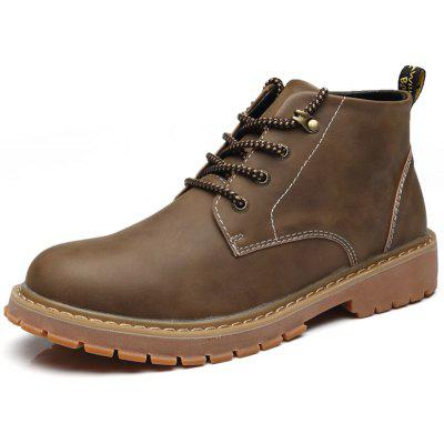Trendy Slip Resistant Leisure Boots for MenMens Boots<br>Trendy Slip Resistant Leisure Boots for Men<br><br>Closure Type: Lace-Up<br>Contents: 1 x Pair of Boots<br>Function: Slip Resistant<br>Materials: Rubber, PU<br>Occasion: Casual, Daily<br>Outsole Material: Rubber<br>Package Size ( L x W x H ): 30.00 x 18.00 x 16.00 cm / 11.81 x 7.09 x 6.3 inches<br>Pattern Type: Solid<br>Seasons: Autumn,Spring,Winter<br>Style: Leisure, Comfortable, Casual<br>Type: Boots<br>Upper Material: PU