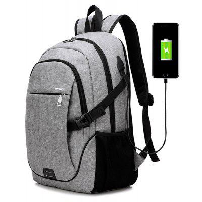 Image result for Men Casual Canvas Backpack with USB Port