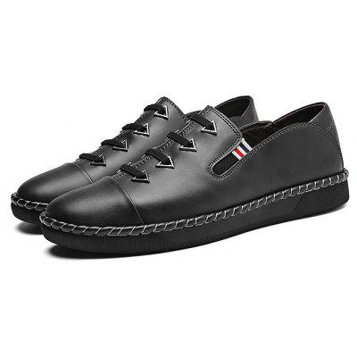 Male Stylish Lace Stripes Decorative Soft Casual Oxford Shoes