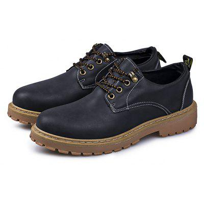 Male Retro Brush Color All-matched Casual Oxford Shoes