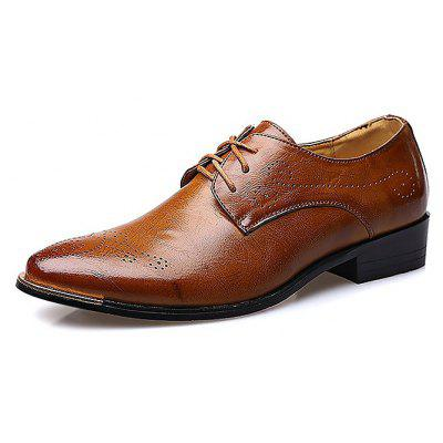 Buy BROWN Male Breathable Soft Slinky Casual Oxford Shoes for $46.89 in GearBest store