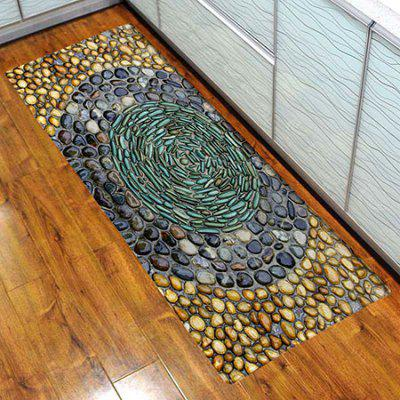3D Printing Smooth Stones Pattern Non-slip Area Rug