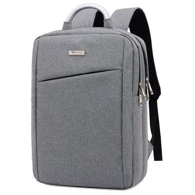 Buy LIGHT GRAY Men Simple Solid Color Canvas Laptop Backpack for $26.86 in GearBest store