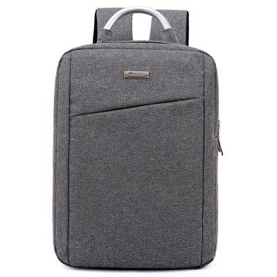 Buy DEEP GRAY Men Simple Solid Color Canvas Laptop Backpack for $26.86 in GearBest store