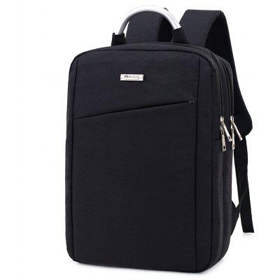 Buy BLACK Men Simple Solid Color Canvas Laptop Backpack for $26.86 in GearBest store
