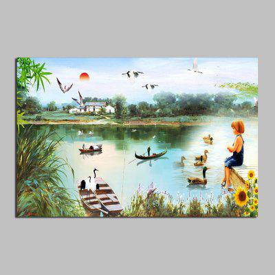 HuaTuo Modern Lake View Hand Painted Oil Painting