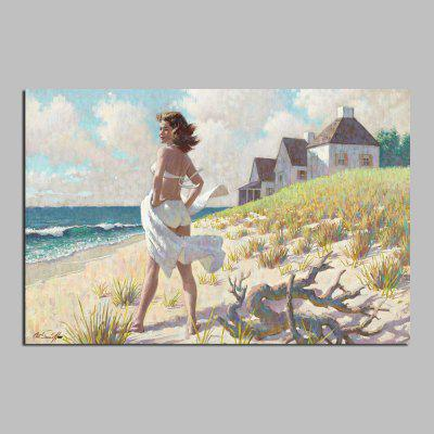 HuaTuo Modern Beach Beauty Hand Painted Oil Painting