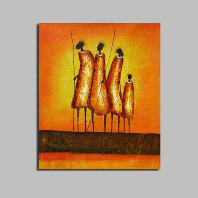Buy MANDARIN Macroart Modern Abstract Figure Hand Painted Oil Painting for $62.14 in GearBest store