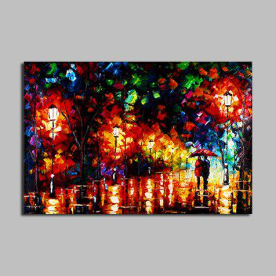 Macroart Modern Colorful Street View Hand Painted Oil Painting