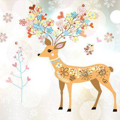 LAIMA Cartoon Sika Deer Wall Sticker for Home Decoration