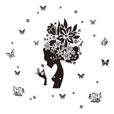 LAIMA Artistic Beauty Butterfly Wall Sticker for Decoration