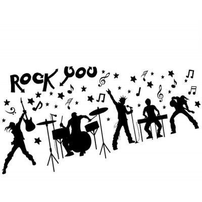 LAIMA Creative Stylish Rock Music Wall Sticker Decoration
