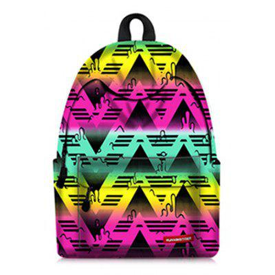 Men Fashion Colorful Printed Backpack