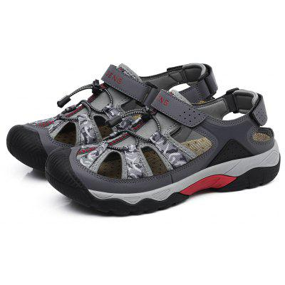 N - DENG Male Outdoor Sandals with Buckle Strap