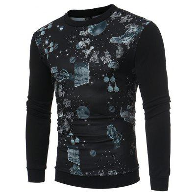 Autumn Winter Fashion Personality Printing Male Hoodie