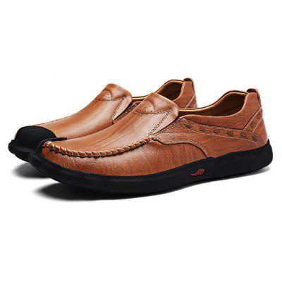 Buy DARK AUBURN 43 Male Slinky Soft Sensible Manual Casual Oxford Shoes for $41.57 in GearBest store