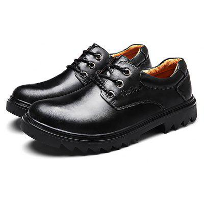 Buy BLACK 38 Male Business Stylish Gradient Toe British Casual Oxford Shoes for $46.31 in GearBest store