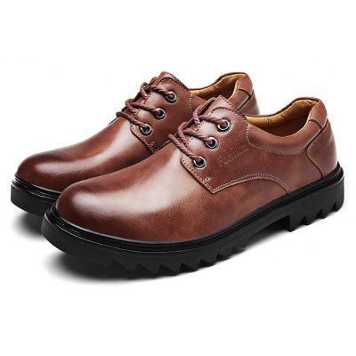Buy DARK AUBURN 40 Male Business Stylish Gradient Toe British Casual Oxford Shoes for $46.31 in GearBest store