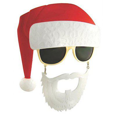 Festival Decoration Santa Claus Glasses Mask for Kids