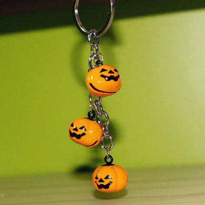 Creative Cartoon Pumpkin Style Metal Key Chain