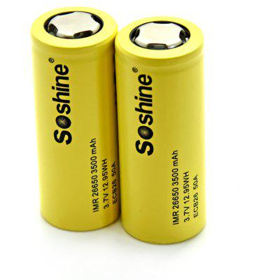 Soshine 2PCS ECB26 IMR Powered Rechargeable Battery