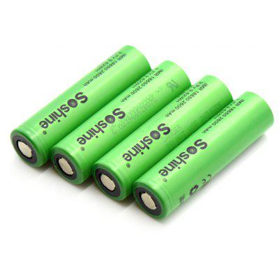Soshine 4PCS VTC5 18650 Powered Li-ion Rechargeable Battery