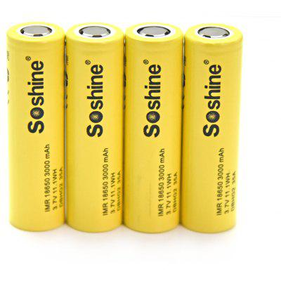 Soshine 4PCS 18650 35A Powered Li-ion Rechargeable Battery